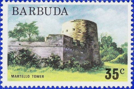 Postage Stamp Showing the Tower